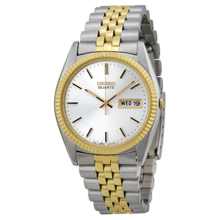 Day/Date Dress Two-tone Stainless Steel Mens Watch SGF204