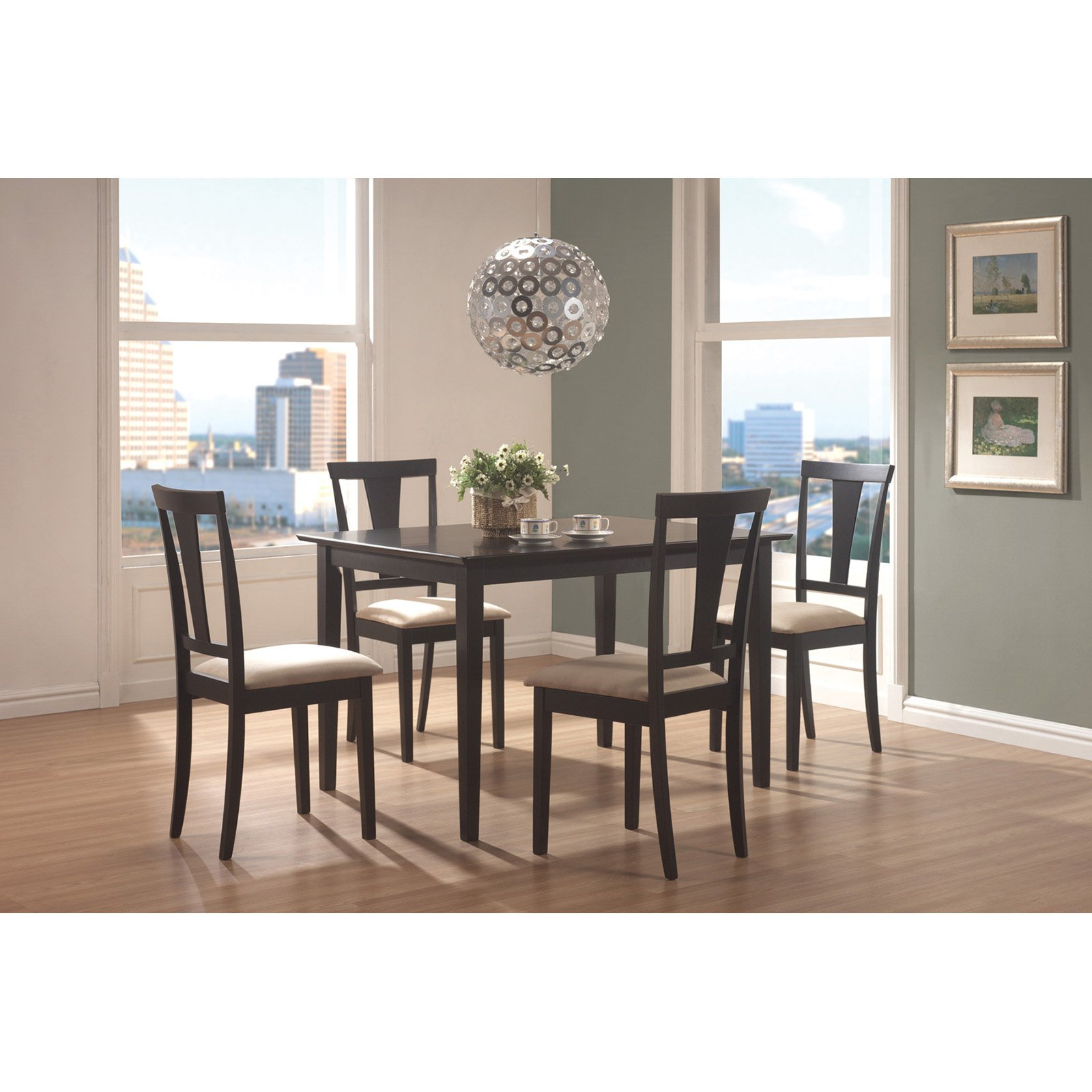 Coaster Furniture Geary 5 Piece Dining Table Set