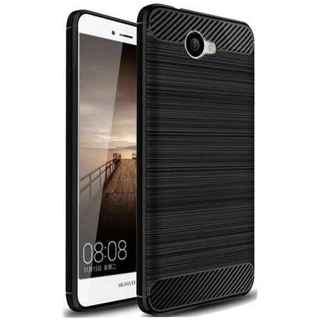Huawei Ascend XT 2 Case, Huawei Elate 4G LTE Case, Carbon Fiber Shock Resistant Brush Texture Soft TPU Phone case Anti-fingerprint Flexible Protective Cover For Huawei Ascend XT2 H1711 (Black)](body glove for the huawei ascend xt)
