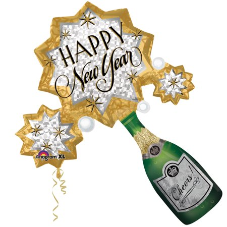 Happy New Year Champagne (Anagram Happy New Year Champagne Bottle Burst 24