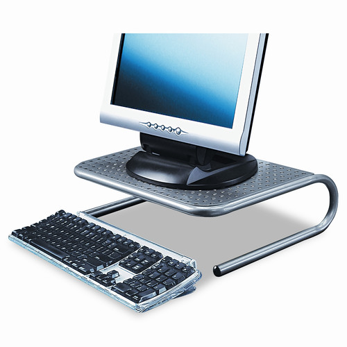 "Allsop 27021 Metal Art Jr. Monitor Stand, 11"" x 14 1/2"" x 4 1/2"", Pewter"