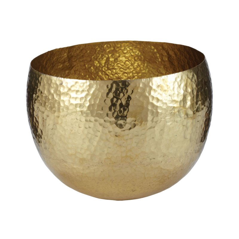 Lazy Susan Gold Hammered Brass Dish - (Small)