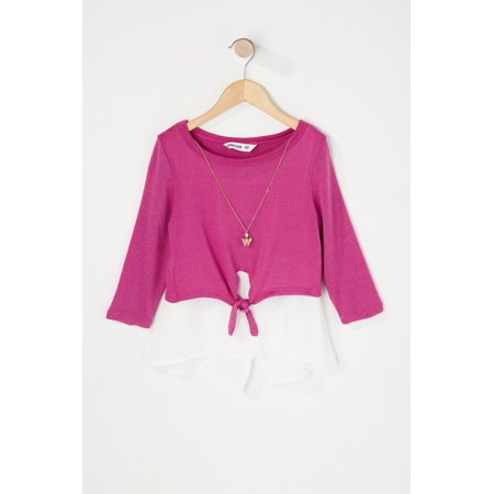 Urban Kids Youth Girl's Girls Layered Long Sleeve With Necklace - image 8 de 8