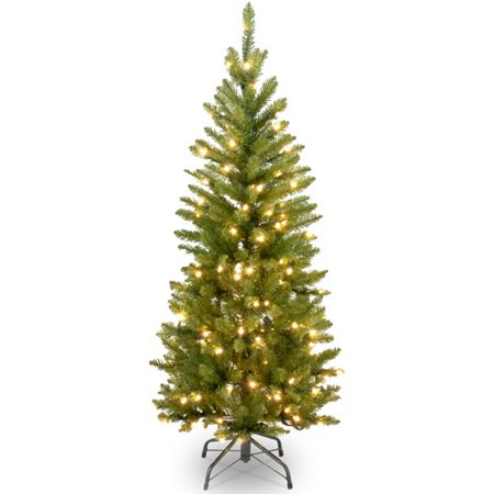 National Tree Pre-Lit 4.5' Kingswood Fir Pencil, Clear Lights - Japanese Pencil Tree