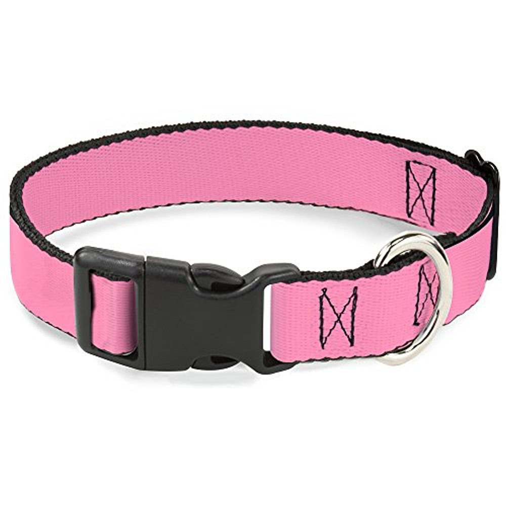 Buckle-Down PC-W10202-NL Baby Pink Plastic Clip Collar