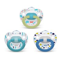 NUK Pacifier Value Pack, 0-6 Months, 3-Pack