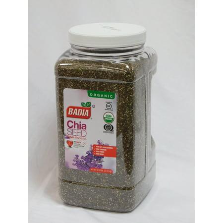 Badia Organic Chia Seeds, 5.5lbs (Sprouted Sunflower Seeds Organic)