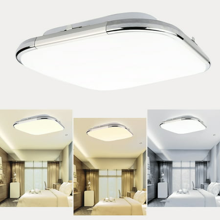 los angeles d974c 2d31b Lampwin 18W LED Flush Mount Ceiling Light Square Ultrathin Fixture, 1280LM  Super bright, 21 inch, Energy Saving, Suitable for Bedroom, Living Room, ...