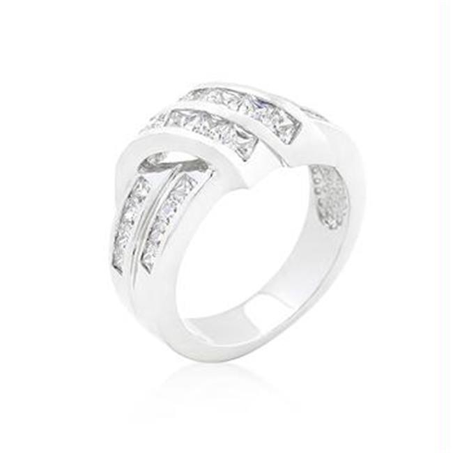 CZ Double Knot Ring, <b>Size :</b> 09