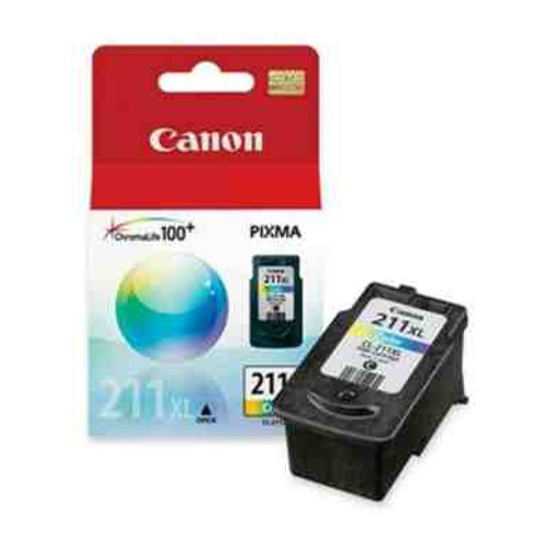 Canon CL-211 XL Extra Large Color Ink Cartridge For PIXMA MP240 and MP480 Printers 2975B001