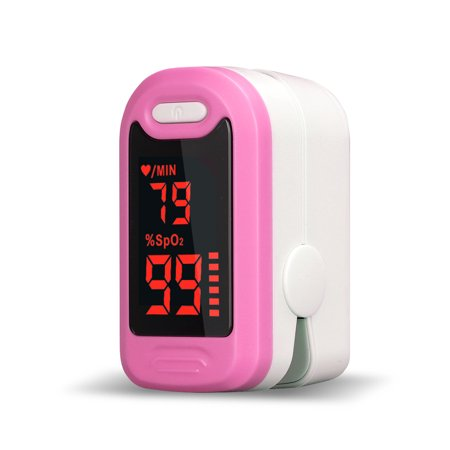 Portable Finger Oximeter Digital LED Fingertip Pulse Clip Oximeter SPO2 Pulse Rate Oxygen Monitor Children Adult ()
