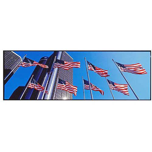 "Trademark Art ""Flags GM Detroit"" Canvas Art by Preston, 16x47"