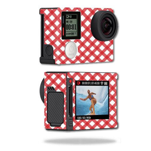 Mightyskins Protective Vinyl Skin Decal Cover for GoPro Hero4 Silver Edition Camera Digital Camcorder wrap sticker skins Red Picnic