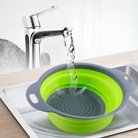 Foldable Wash Colander Fruit Vegetable Washing Basket Kitchen Collapsible Strainer