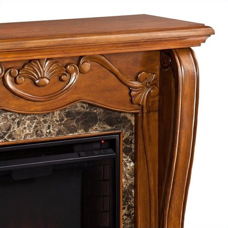 Southern Enterprises Cardona Electric Fireplace in Walnut - image 10 de 13