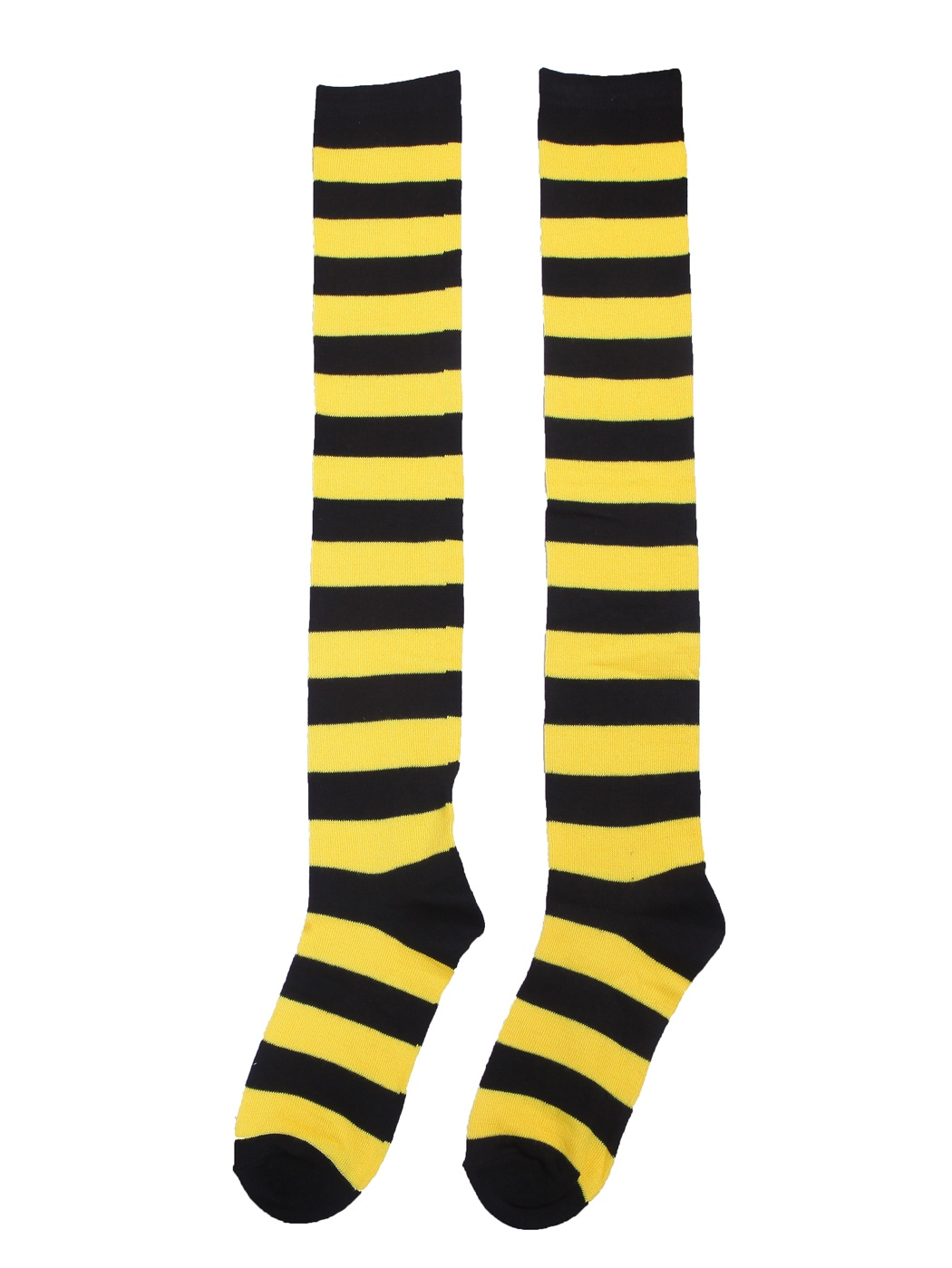 Women\'s Extra Long Striped Socks Over Knee High Opaque Stockings ...