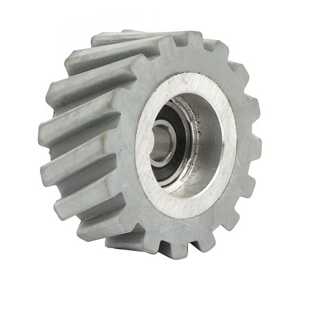 65mmx10mmx28mm Bearing Steel Rubber Pinch Roller Edgebanding Wheel Pulley Gray ()