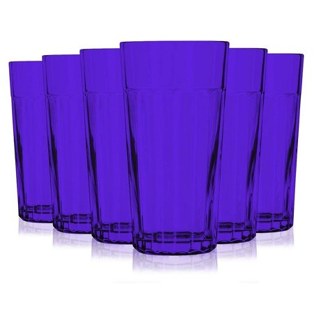 Libbey Purple Jumbo Cooler Glass with 16 oz Capacity - Additional Vibrant Colors Available by TableTop King
