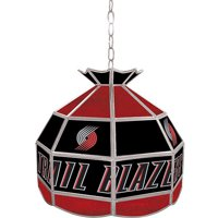 "Trademark Global Portland Trail Blazers NBA 16"" Stained Glass Tiffany Lamp Light Fixture"