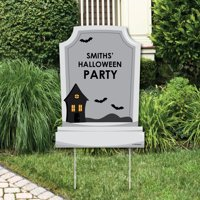 Graveyard Tombstones - Party Decorations - Halloween Party Welcome Yard Sign