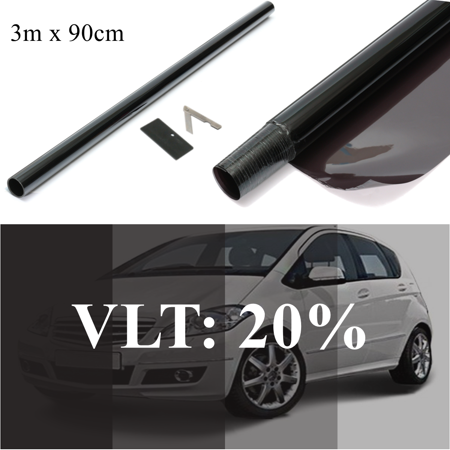 """36"""" In x 10ft Car Window Tint Film 20% VLT UV-Proof Scratch Resistant For Auto Car House Commercial - image 1 of 7"""