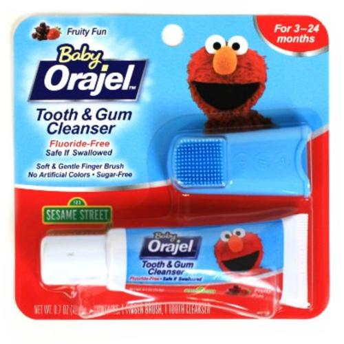 Baby Orajel Fruity Fun Tooth & Gum Cleanser, .7 oz