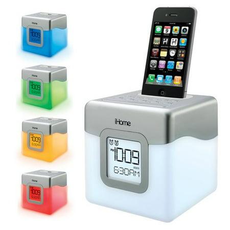 iHome IP18 Dock Color-Change Clock Speaker