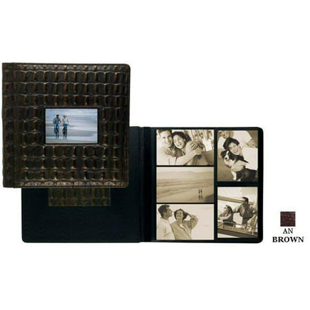 Raika AN 113-D BROWN Frame Front Scrapbook Album - Brown