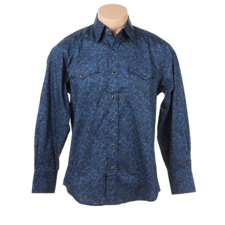 Rodeo Swirly Blue Paisley Shirt