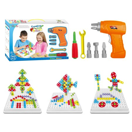 Educational Design And Drill Toy Building Toys Set 193 Pcs With