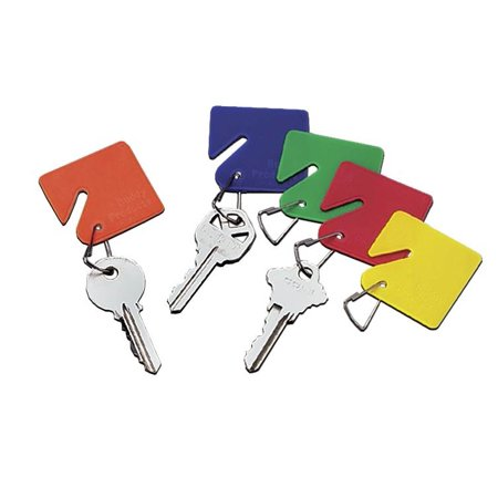 15 Assorted Color Plastic Key Tags