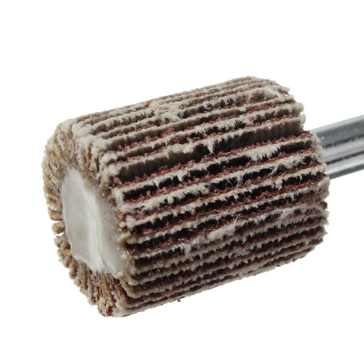 Sanding Polishing Grind Wheel Disc 80 Grit Cylinder Handle Flap Abrasive