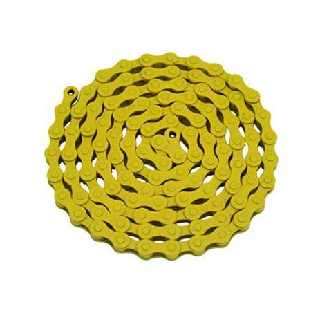 YBN Chain 1/2x1/8x112 Yellow. for bicycle Chain, bike chain, lowrider bikes, beach cruiser, chopper, limos, stretch, bmx