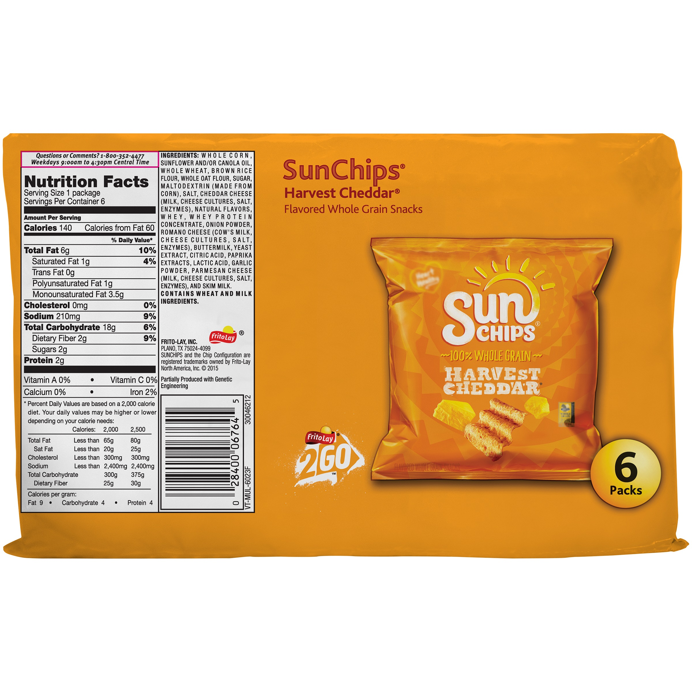 Small Bag Of Sunchips Nutrition Facts