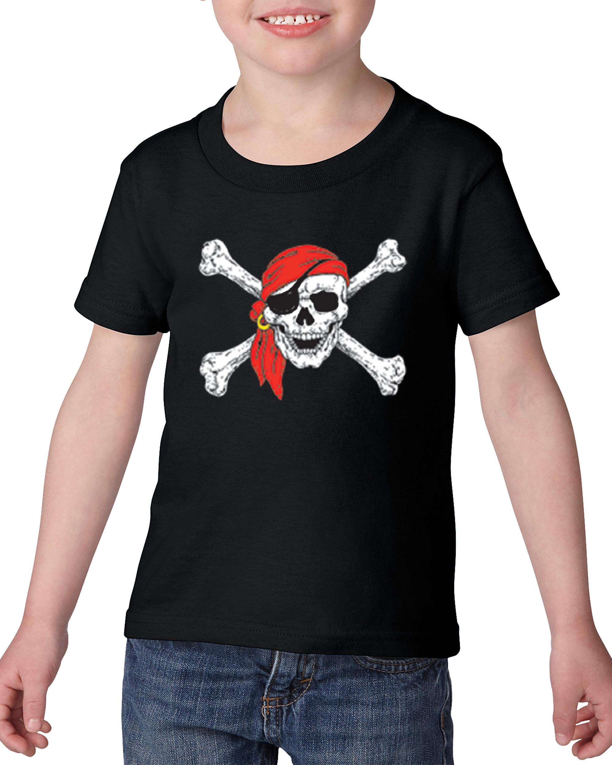 Artix Jolly Roger Skull Crossbones Toddler Kids T-Shirt Tee Clothing