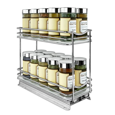 Lynk Professional® Slide Out Spice Rack Double - 4-inch Wide ()