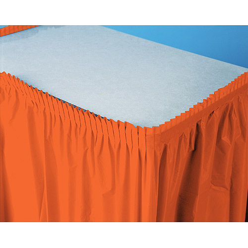 Plastic Table Skirt, Orange