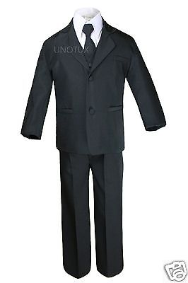 New Baby Boy /& Toddler Wedding Tuxedo Easter Formal Party Suit Black