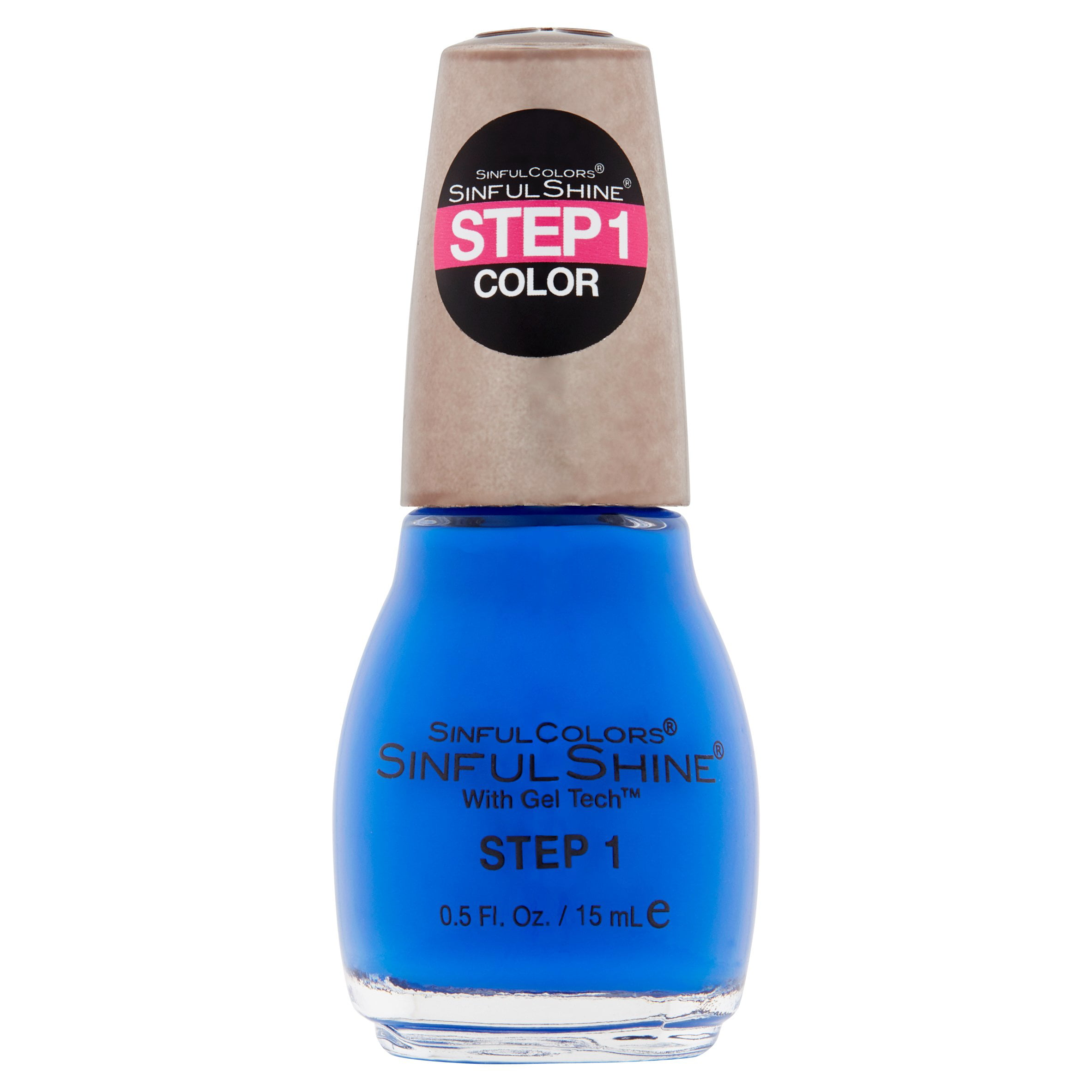 SinfulColors SinfulShine Step 1 Color Nail Color, Most Sinful, 0.5 ...
