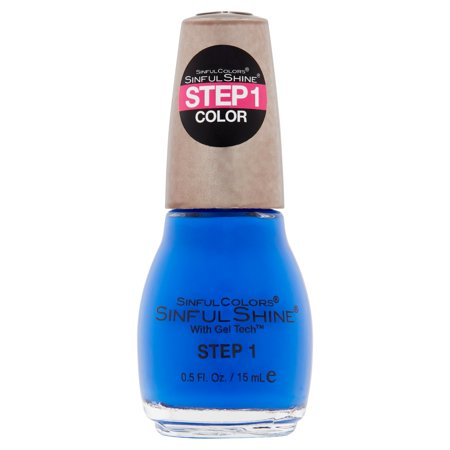 SinfulColors SinfulShine Step 1 Color Nail Color, Most Sinful, 0.5 fl - Halloween Nail Art Step By Step