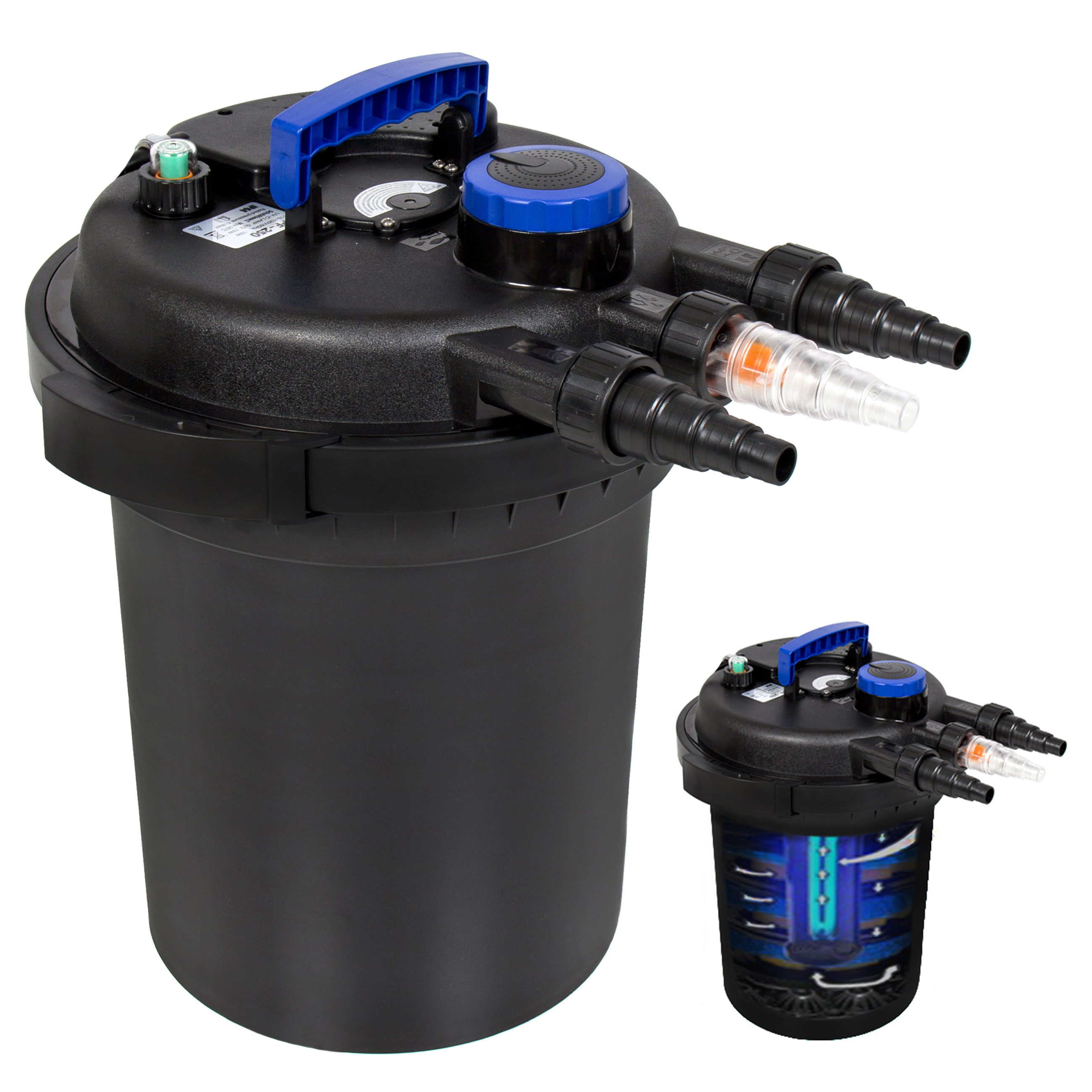 Boyu Garden Fish Pond Bio Filter and Pump with UV Steriliser and Hose Complete S