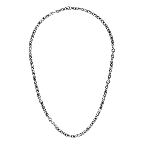 Platinum Rolo Links Solid 5.2mm Oval Link Necklace Length: 18 to 30 by