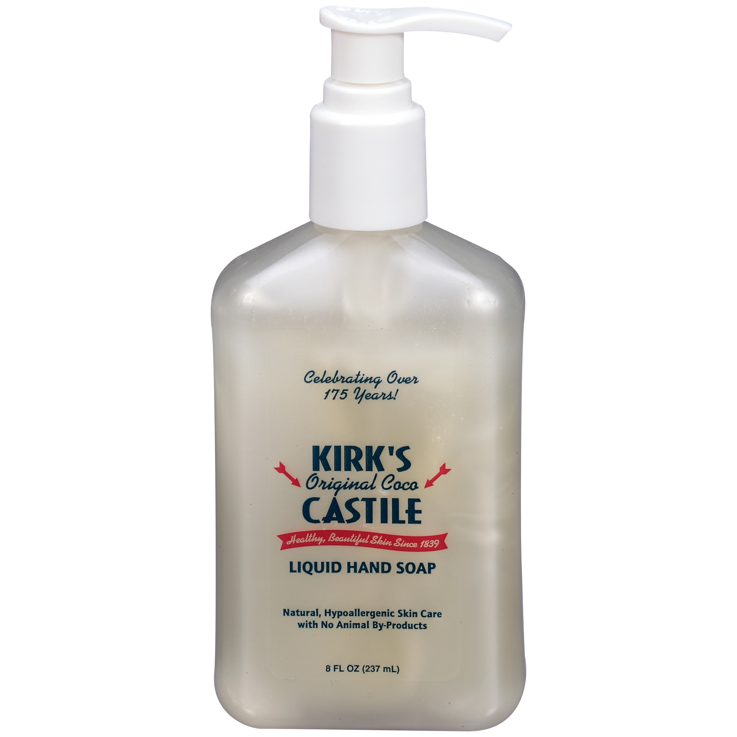 Kirk\'s Original Coco Castile Liquid Hand Soap 8 fl. oz. Pump ...