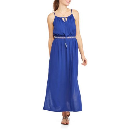 Faded Glory Women S Banded Woven Maxi Dress