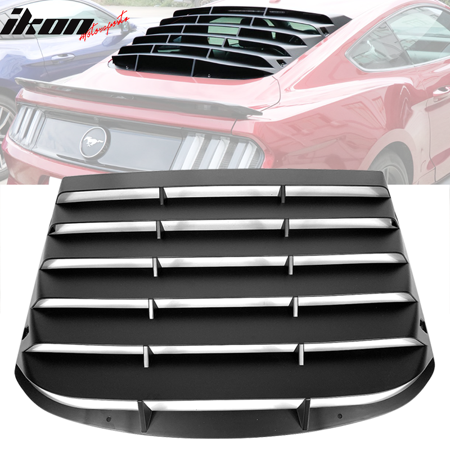 Fits 15-18 Ford Mustang ABS Rear Window Louver Sun Rain Guards Vent