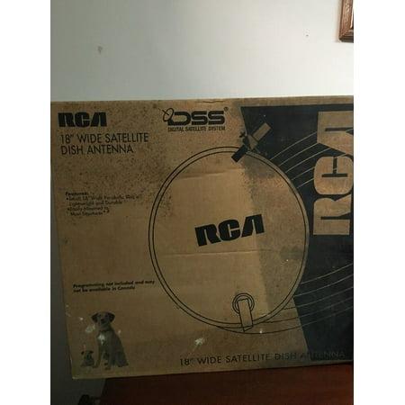 "RCA DSA100RW 18"" Wide Satellite Dish Antenna"