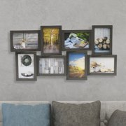 Melannco 8 Opening Collage Frame, 23 X 11 Inches, Dark Grey