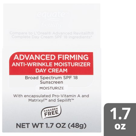 Best Equate Beauty Advanced Firming Anti-Wrinkle Moisturizer Day Cream, SPF 18, 1.7 oz deal