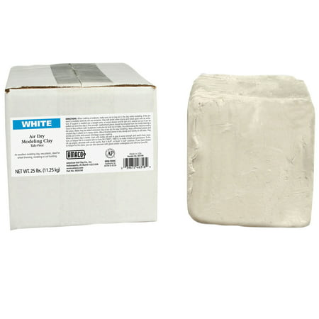 Carving Clay (AMACO® Air Dry Clay, White, 25 lb. )