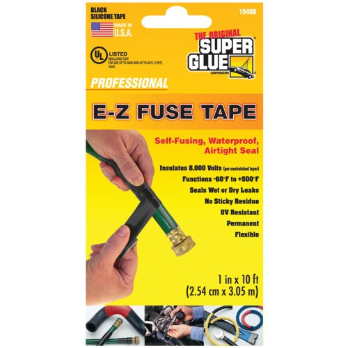 Super Glue 15408 E-Z Fuse Silicone Tape 10 Ft